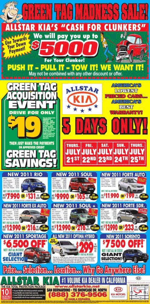 Allstar Kia San Bernardino, CA View Dealer Ad