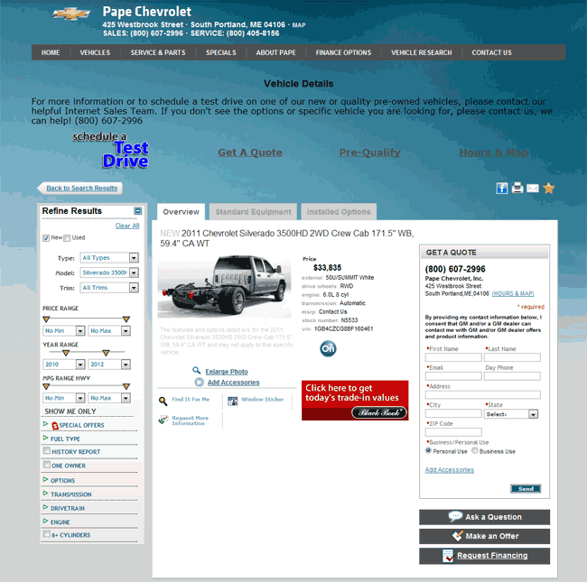 Chevrolet Flagstaff: 2011 Chevrolet Silverado 3500 Real Dealer Prices