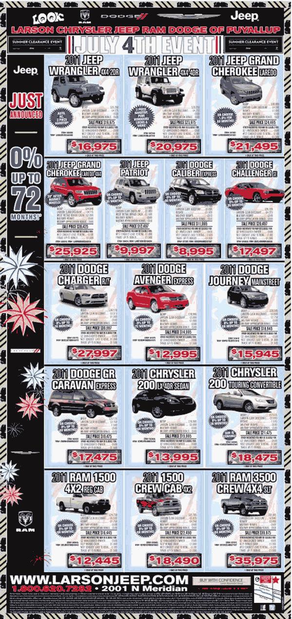 Larson Chrysler Puyallup, WA View Dealer Ad