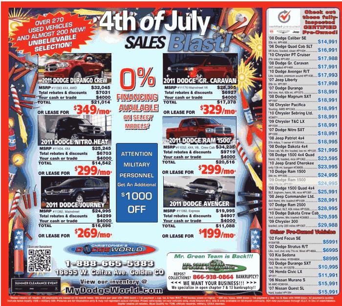 2011 Dodge Ram 1500 Real Dealer Prices