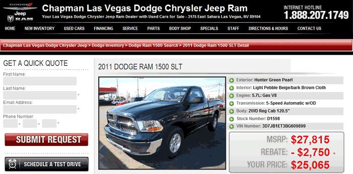 2011 dodge ram 1500 real dealer prices free. Black Bedroom Furniture Sets. Home Design Ideas