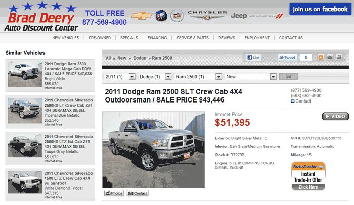 2011 dodge ram 2500 real dealer prices free. Black Bedroom Furniture Sets. Home Design Ideas