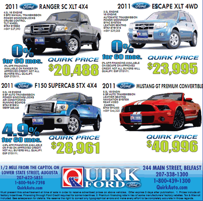 Quirk Used Cars Bangor Maine