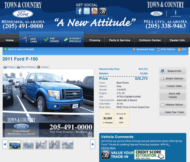 2011 ford f 150 real dealer prices free. Black Bedroom Furniture Sets. Home Design Ideas