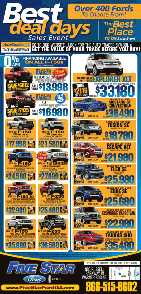 Five Star Ford Warner Robins Ga >> 2011 Ford Ranger Real Dealer Prices - Free - CostHelper.com