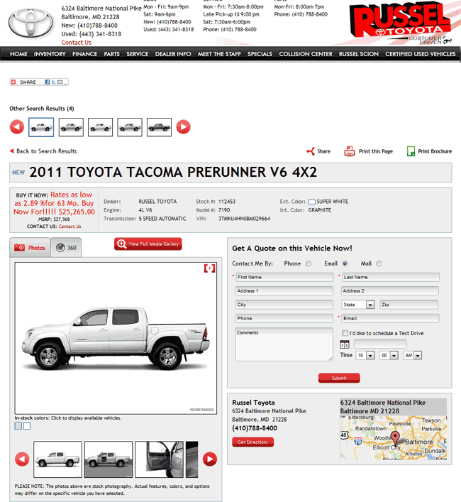 2011 Toyota Tacoma Real Dealer Prices Free Costhelper Com