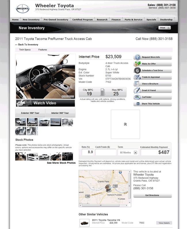Wheeler Toyota Grants Pass, OR View Dealer Ad