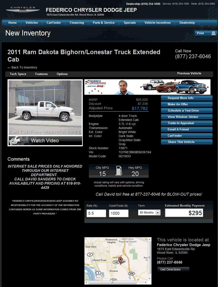 2011 Dodge Dakota Real Dealer Prices Free Costhelper Com