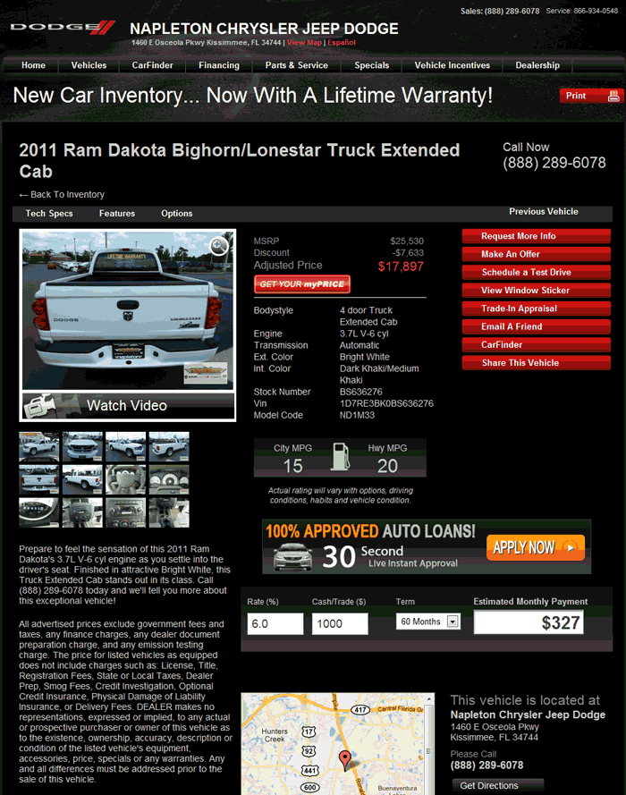 2011 Dodge Dakota Real Dealer Prices Free Costhelper Com