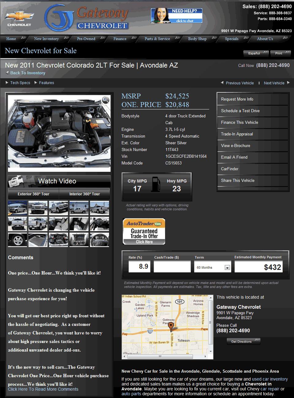 Gateway Chevrolet Avondale, AZ View Dealer Ad