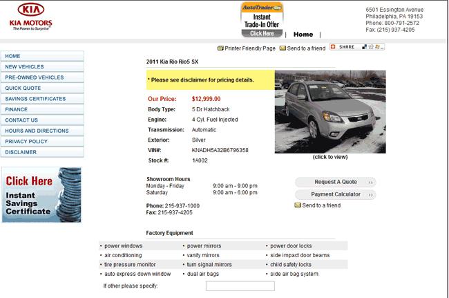 Value Kia Philadelphia >> 2011 Kia Rio Real Dealer Prices - Free - CostHelper.com
