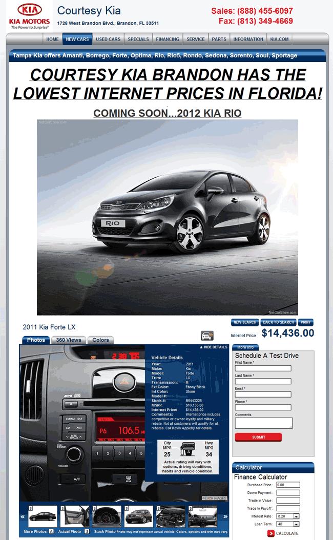 2011 Kia Forte Real Dealer Prices Free Costhelper Com