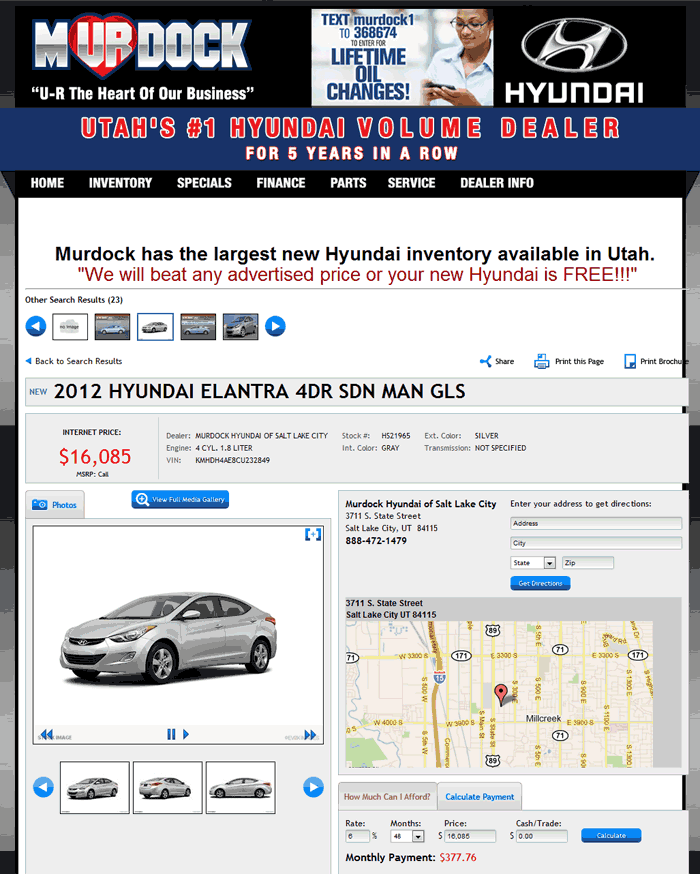 Murdock Hyundai Salt Lake City Ut View Dealer Ad