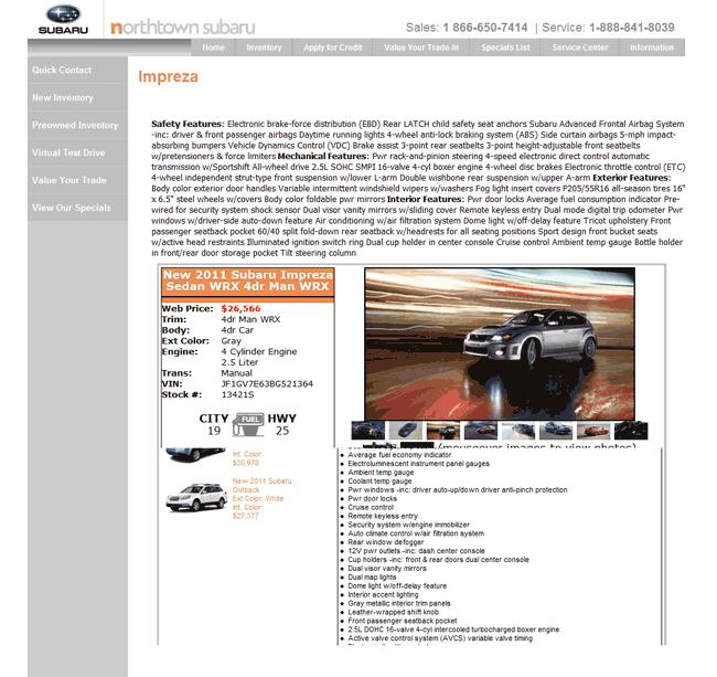 2011 Subaru Impreza Real Dealer Prices Free Costhelper Com