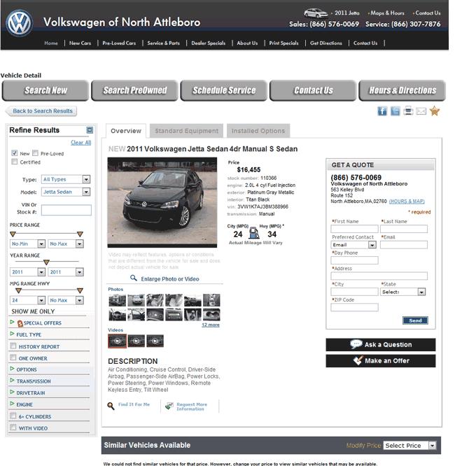 2011 Volkswagen Jetta Real Dealer Prices - Free - CostHelper.com