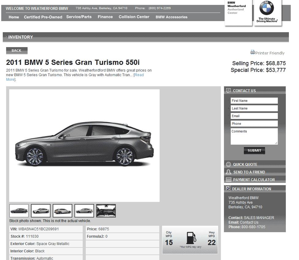 Fort Myers Florida Acura Dealership: 2011 BMW 550i Real Dealer Prices