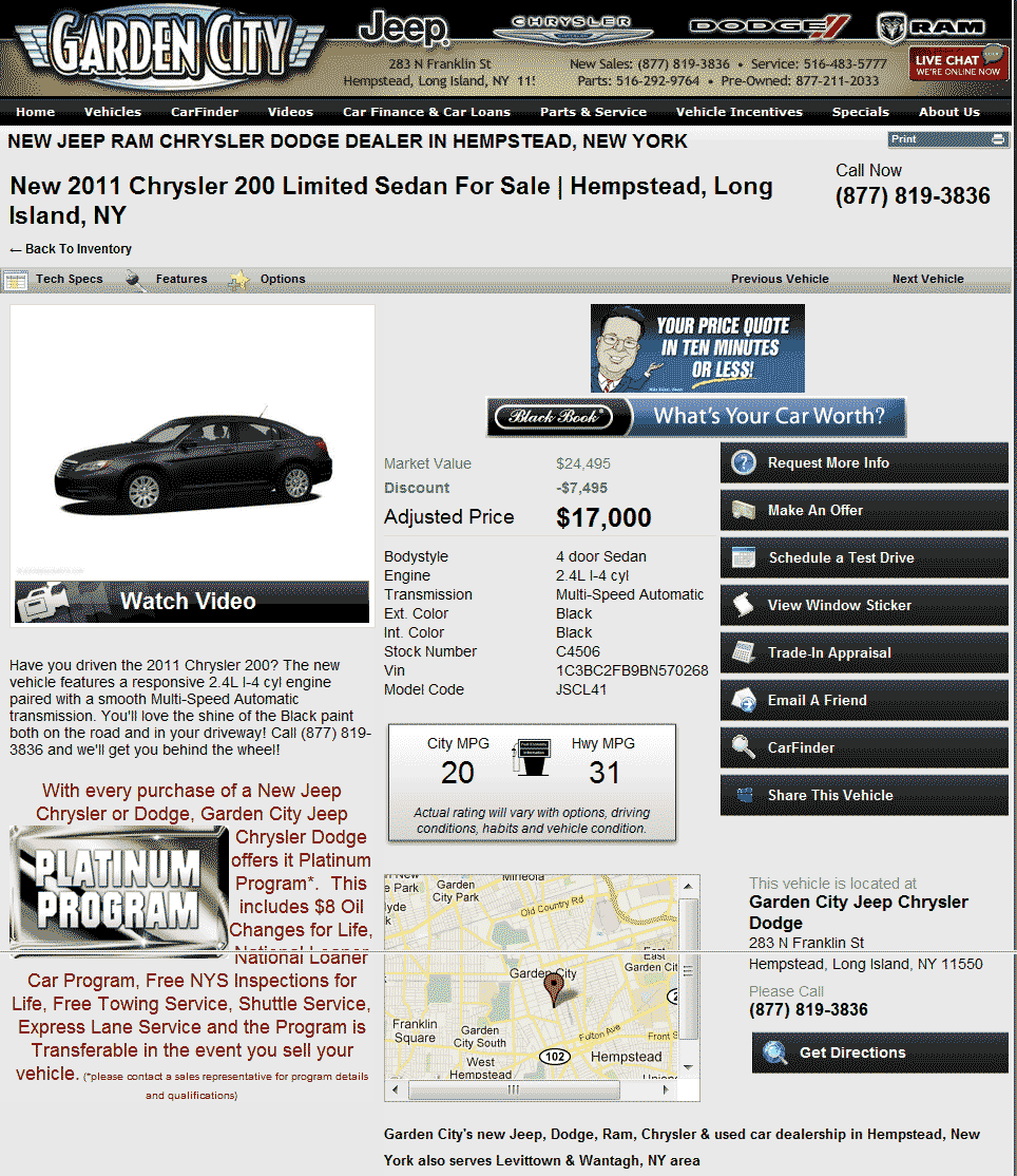 2011 Chrysler 200 Real Dealer Prices