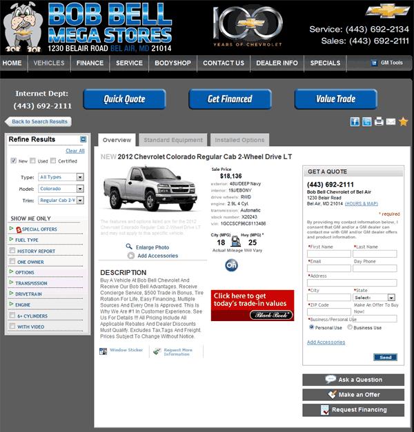2012 Chevrolet Colorado Real Dealer Prices Free Costhelper