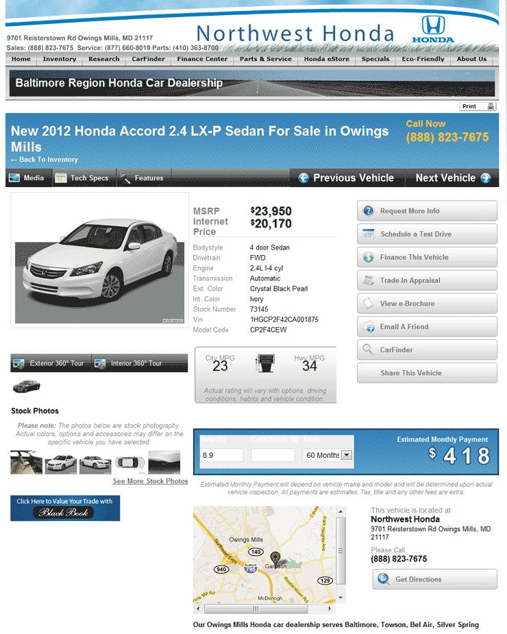 2012 Honda Accord Real Dealer Prices Free Costhelper Com