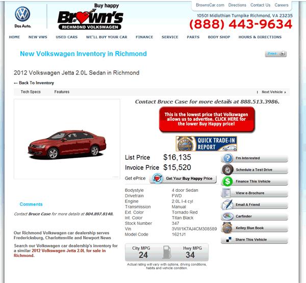 2012 Volkswagen Jetta Real Dealer Prices