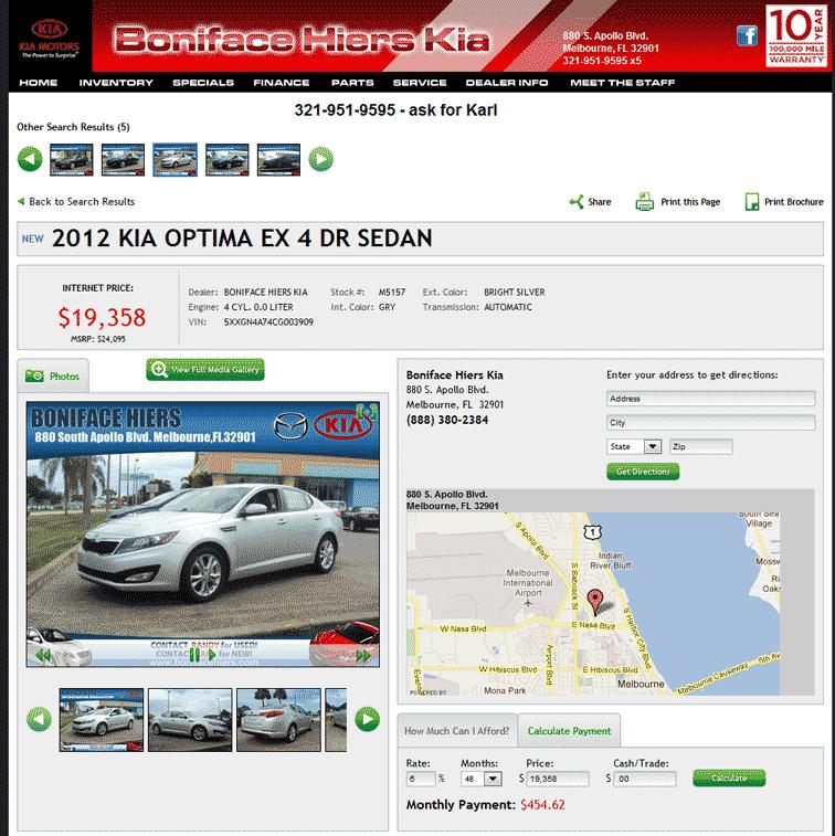 2012 Kia Optima Real Dealer Prices - Free - CostHelper.com