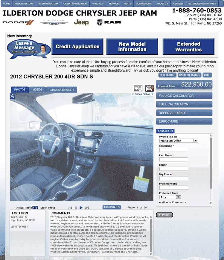 2012 Chrysler 200 Real Dealer Prices