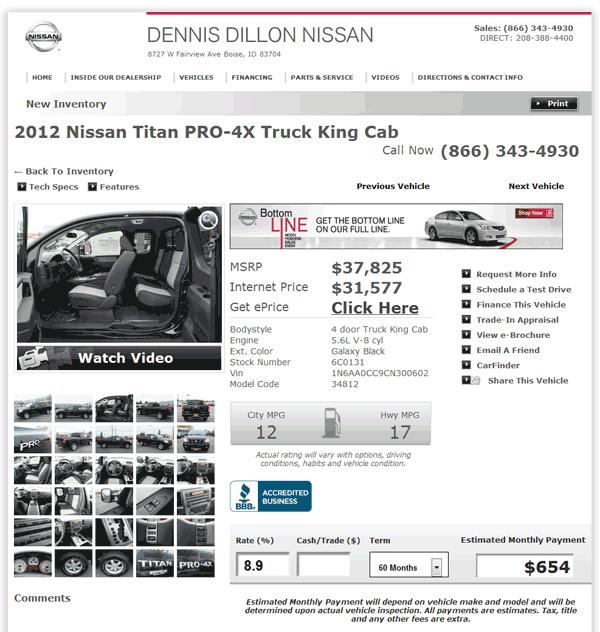 Dennis Dillon Nissan Boise, ID View Dealer Ad