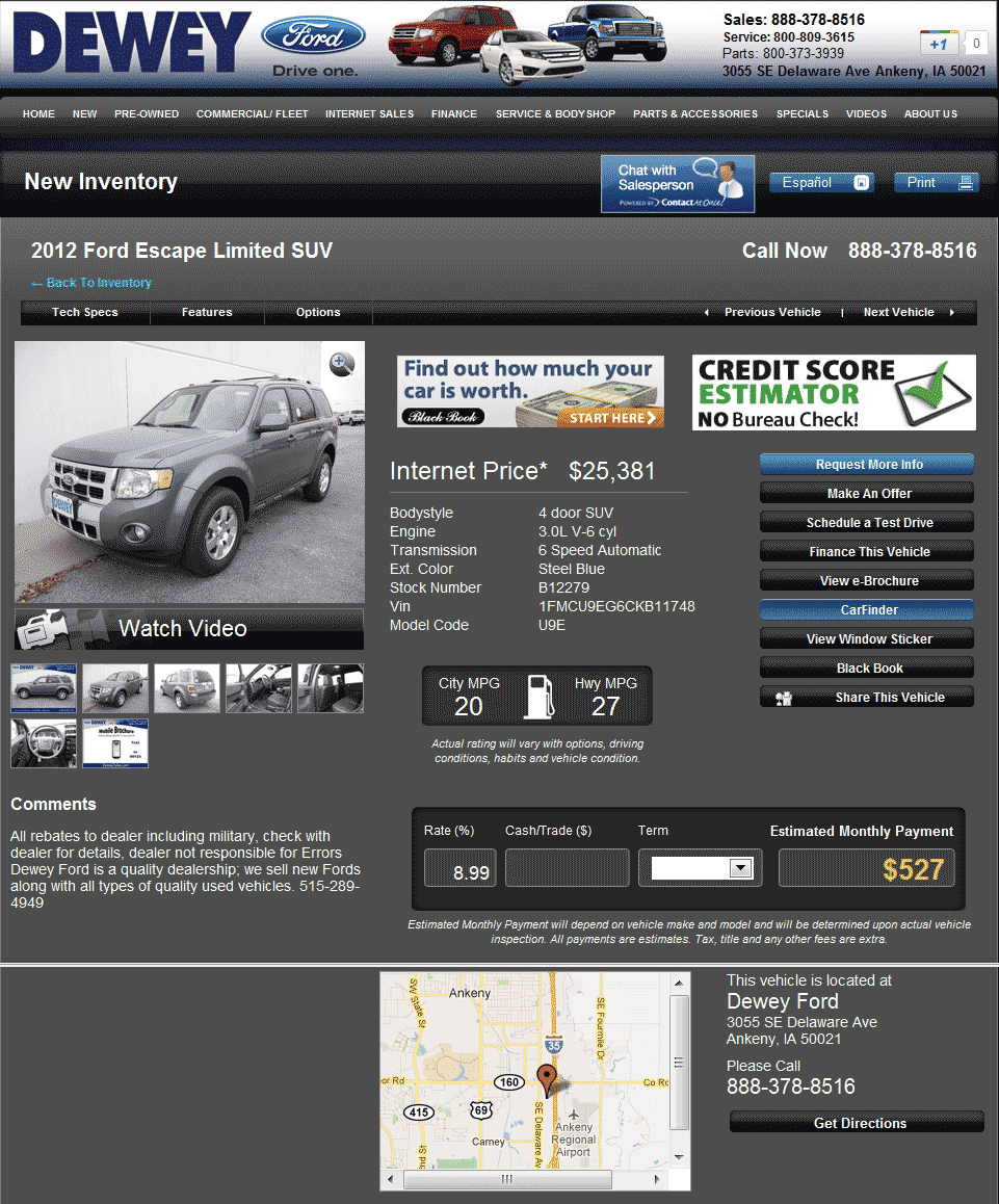 Ken Garff Ford >> 2012 Ford Escape Real Dealer Prices - Free - CostHelper.com