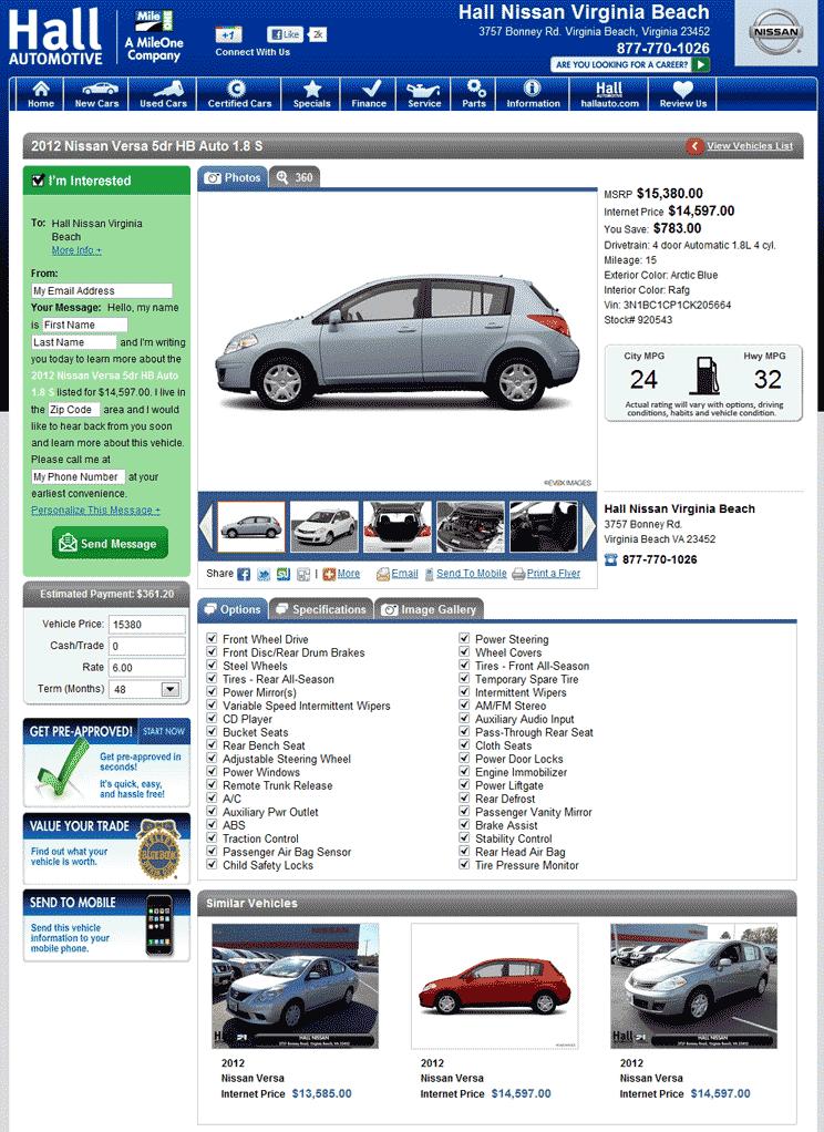 2012 Nissan Versa Real Dealer Prices Free Costhelper Com