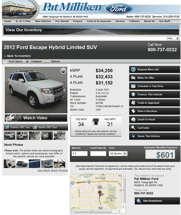 2013 Ford Escape Hybrid: 2012 Ford Escape Real Dealer Prices