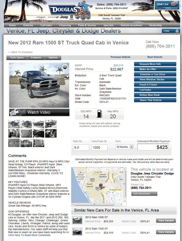 2012 Dodge Ram 1500 Real Dealer Prices - Free - CostHelper.com