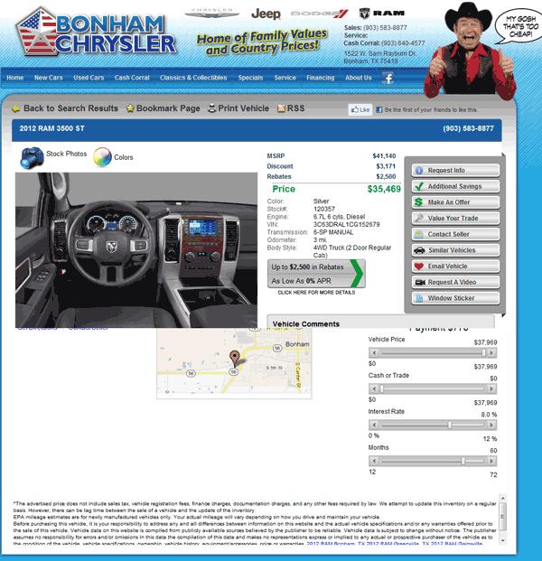 2012 Dodge Ram 3500 Real Dealer Prices Free Costhelper Com