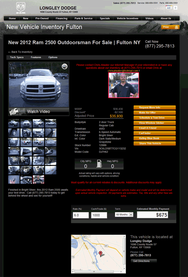 2012 Dodge Ram 2500 Real Dealer Prices Free Costhelper Com