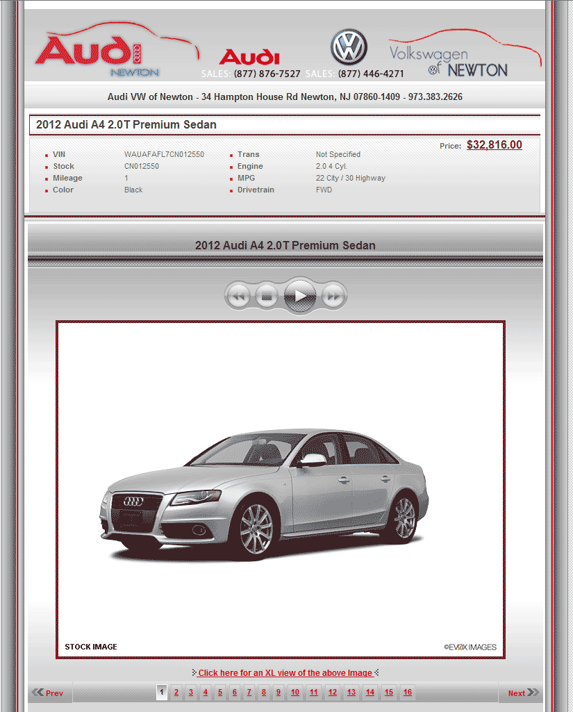 2012 Audi A4 Real Dealer Prices