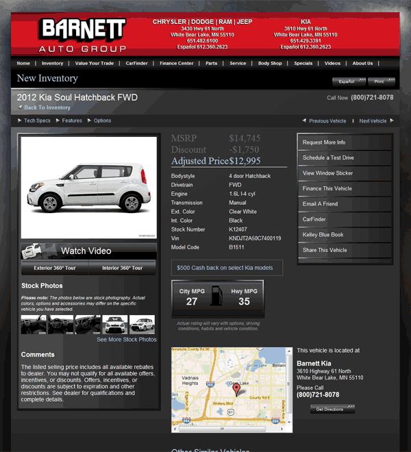 Barnett Kia White Bear Lake, MN View Dealer Ad