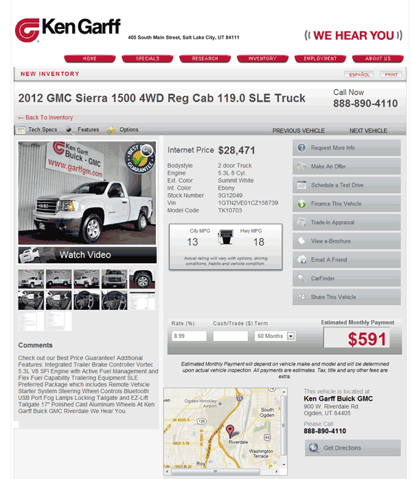 2012 GMC Sierra 1500 Real Dealer Prices