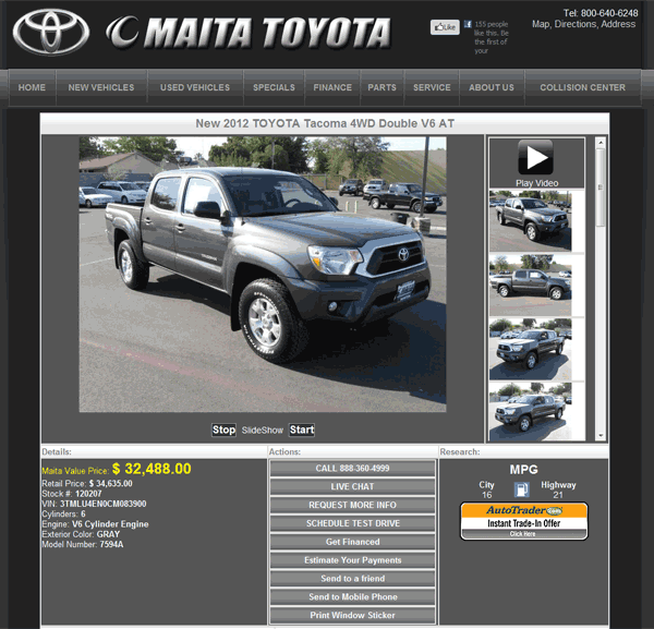 2012 Toyota Tacoma Real Dealer Prices - Free - CostHelper.com