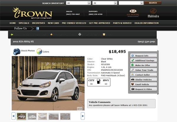 Crown Kia Longview, TX View Dealer Ad