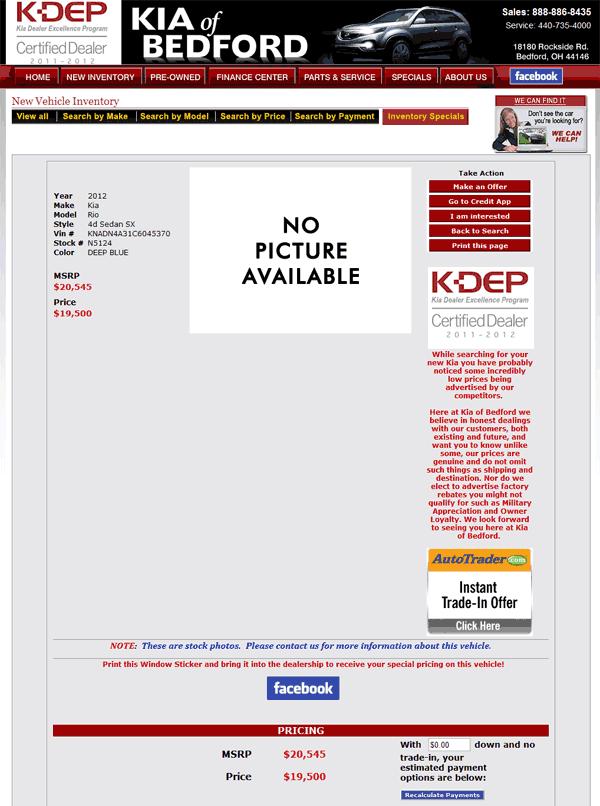 Jeff Wyler Kia >> 2012 Kia Rio Real Dealer Prices - Free - CostHelper.com