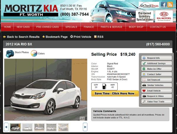 Moritz Kia Fort Worth, TX View Dealer Ad