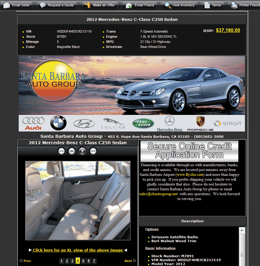 Okemos Auto Collection >> 2012 Mercedes-Benz C-Class Real Dealer Prices - Free ...
