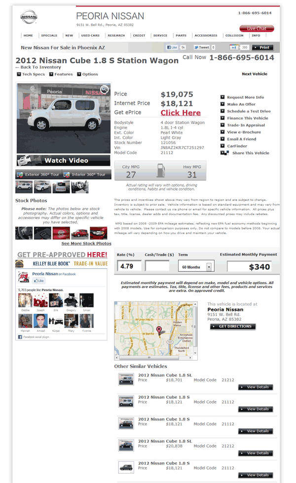 2012 Nissan Cube Real Dealer Prices - Free - CostHelper com