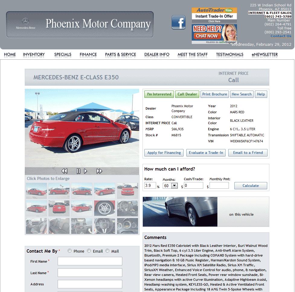 2012 Mercedes Benz E Class Real Dealer Prices Free