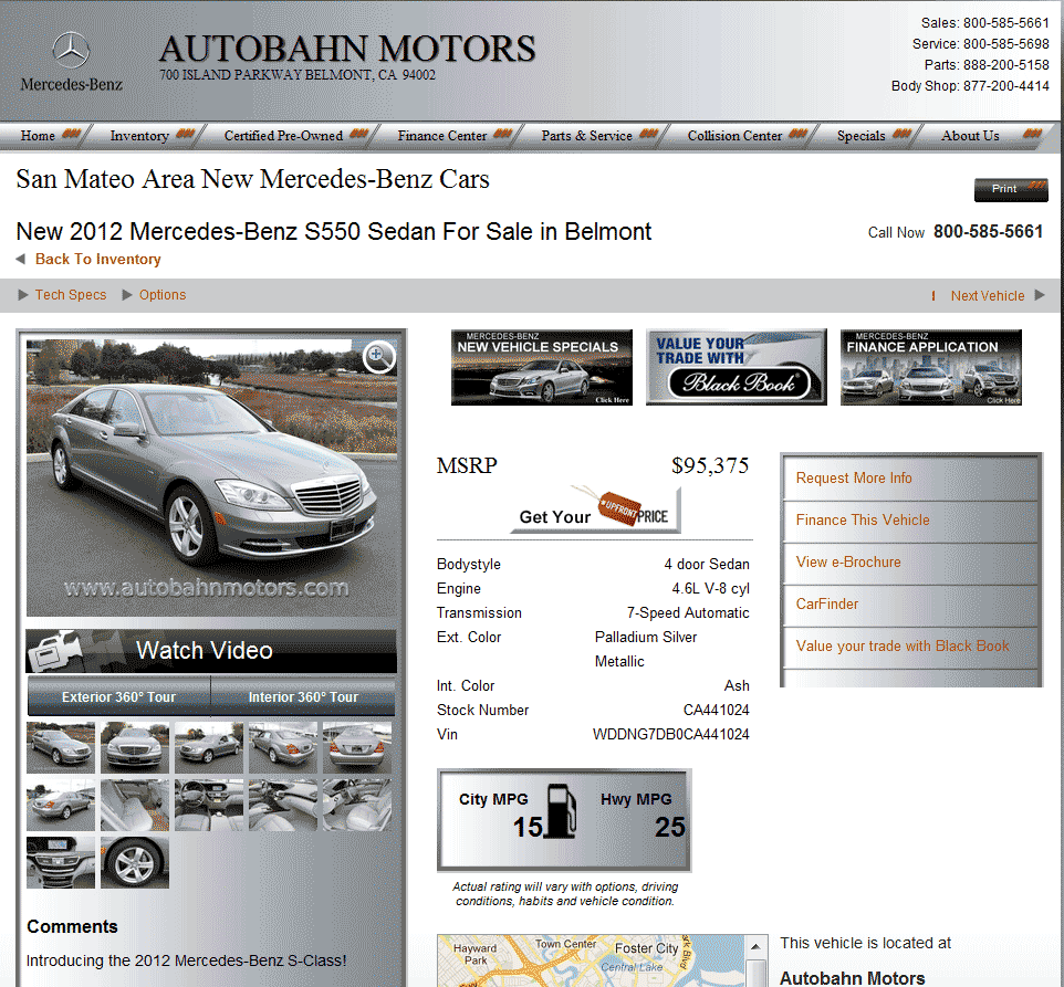 2012 Mercedes Benz S Class Real Dealer Prices Free