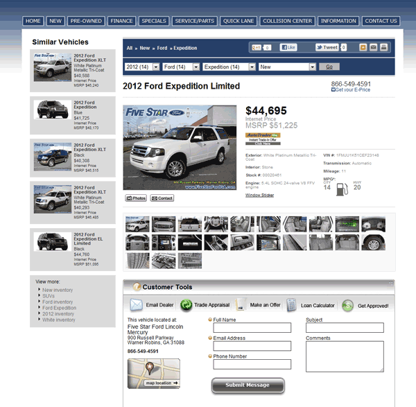 2012 ford expedition real dealer prices free. Black Bedroom Furniture Sets. Home Design Ideas
