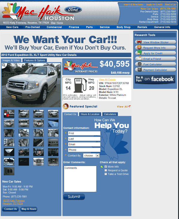 Holiday Ford Whitesboro Tx >> 2012 Ford Expedition Real Dealer Prices - Free - CostHelper.com