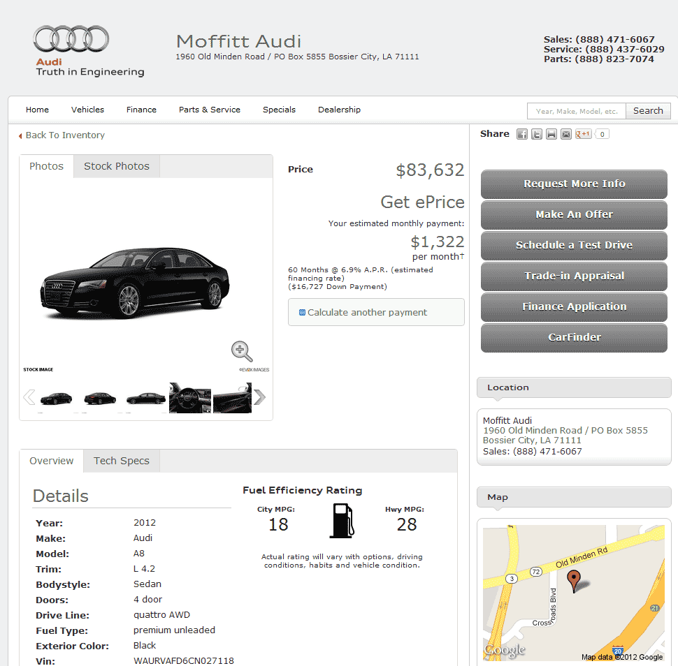 2012 Audi A8 Real Dealer Prices Free Costhelper Com