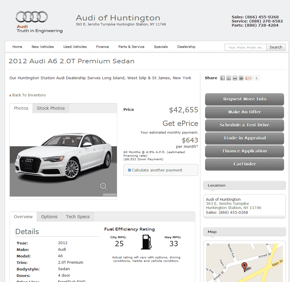 Audi A Real Dealer Prices Free CostHelpercom - Audi of huntington