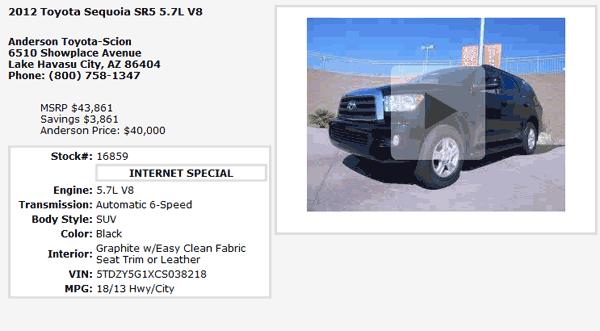 Anderson Toyota Lake Havasu City, AZ View Dealer Ad