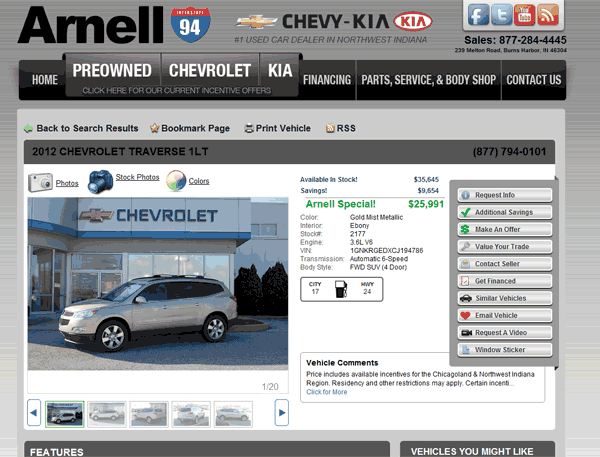 2012 Chevrolet Traverse Real Dealer Prices Free